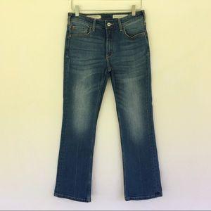 Anthropologie Pilcro High Rise Bootcut Crop Jeans